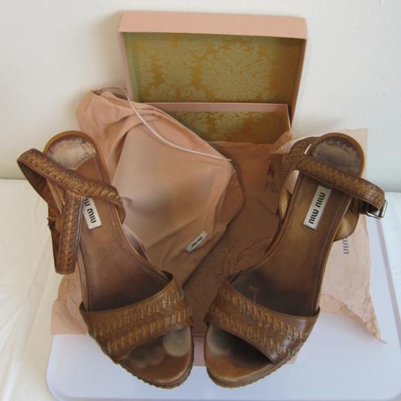 1eba31a84a50 MIU MIU  Calzature Donna  brown Wedge Sandal 38. M 5b01e637a44dbefbe5f62c5b